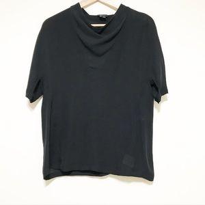 Theory Silk sheer black blouse. Small